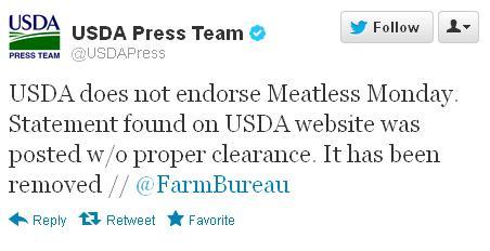 USDA Meatless Monday
